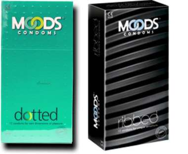 MOODS Ribbed and Dotted Condoms Combo Pack (24 Pieces)