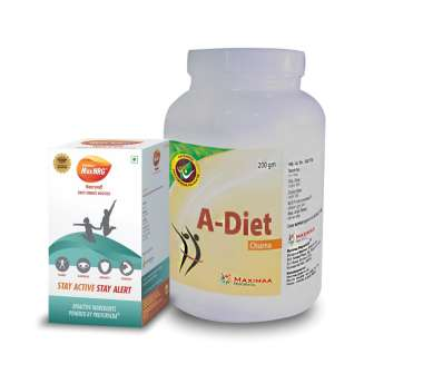 Proyurveda Weight Loss Combo Pack OF A-Diet Powder,200gm & Maxnrg,60Caps