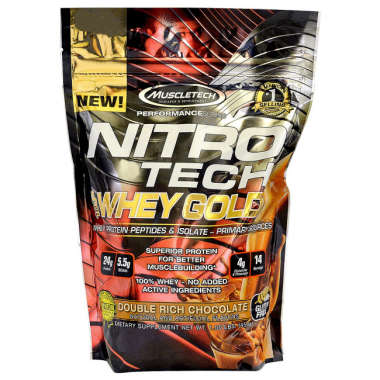 Muscletech Nitrotech Whey Gold Performance Series Double Rich Chocolate