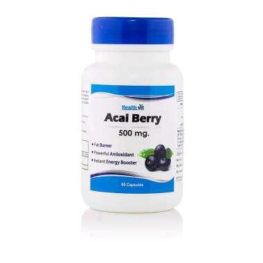 HealthVit  Acai Berry 500mg Capsule