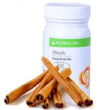 Herbalife Afresh Energy Drink Mix Cinnamon
