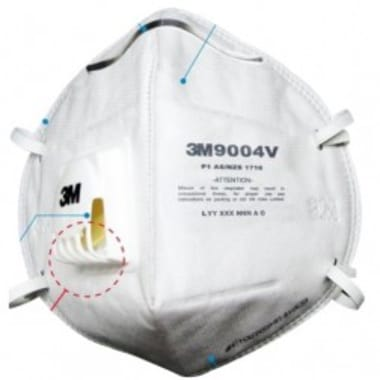 3M 9004V Particulate Respirator Mask Pack of 10