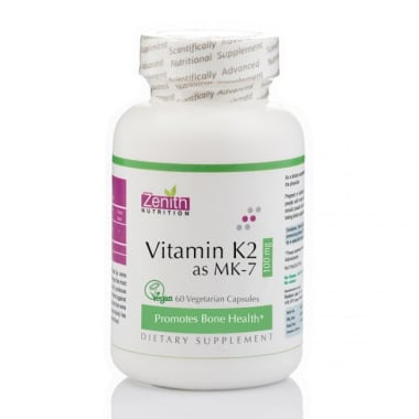 Zenith Nutrition Vitamin K2 AS MK-7  100mcg Capsule