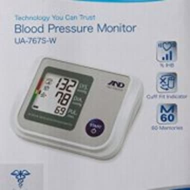 A&D UA-767S-W Upper Arm BP Monitor