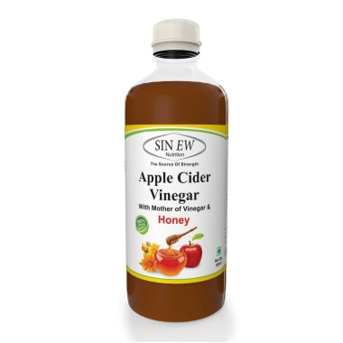 Sinew Nutrition Apple Cider Vinegar With Honey and Mother of Vinegar
