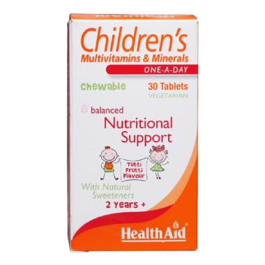 Healthaid Childrens Multivitamins & Minerals Chewable Tablet Tutti Frutti