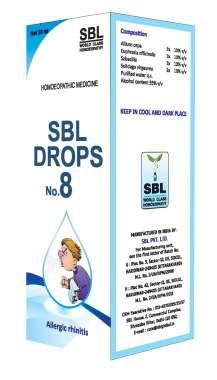 SBL Drops No. 8 ( for Allergic Rhinitis)