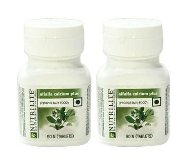 Amway Alfalfa Calcium Plus Tablet Pack of 2