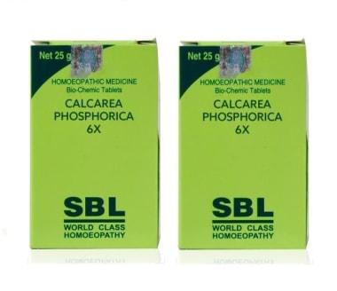 SBL Calcarea Phosphorica Biochemic Tablet 6X Pack of 2
