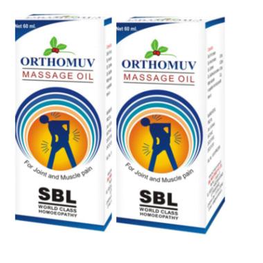 SBL Orthomuv Massage Oil Pack of 2