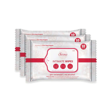 Sirona Intimate Wipes Pack of 3