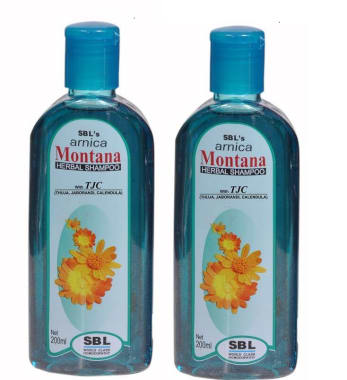 SBL Arnica Montana Herbal Shampoo with Tjc Pack of 2