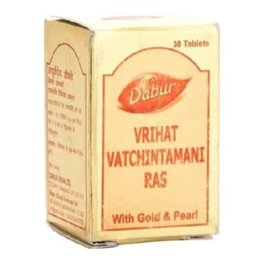 Dabur Vrihat Vatchintamani Ras with Gold and Pearl Tablet