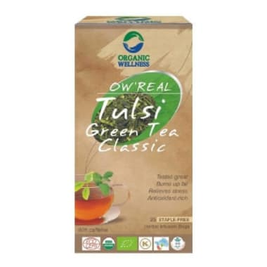 Organic Wellness OW'REAL Tulsi Green Tea Classic Infusion Bags