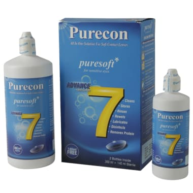 Purecon Combo Pack of Puresoft Multi-purpose Lens Solution