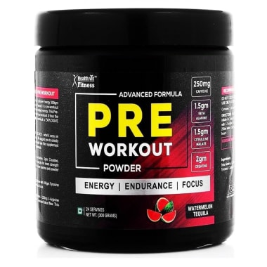 HealthVit Fitness Pre-Workout Advanced Formula Watermelon Tequila