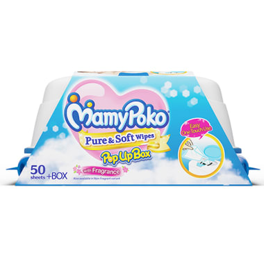 Mamy Poko Wipes  Pure and Soft With Fragrance