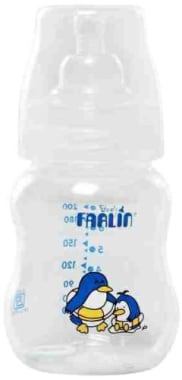 Farlin 200CC Wide Neck Feeding Bottle Blue