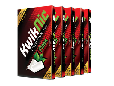 KwikNic 2mg Chewing Gums Paan Pack of 5