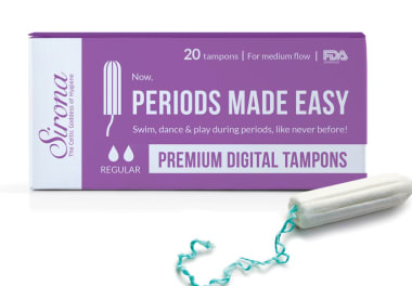 Sirona Periods Made Easy Premium Digital Tampons- Regular (For Medium Flow)