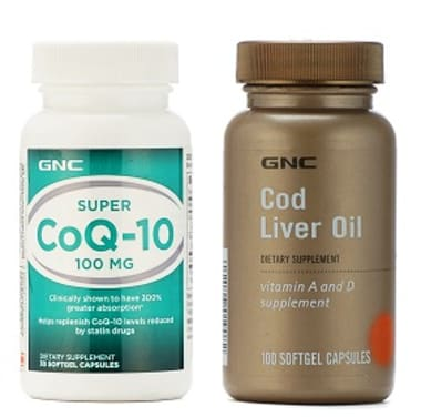 GNC Super Coenzyme Q10 100mg with Cod Liver Oil Softgels