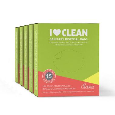 Sirona Sanitary & Diaper Disposal Bags Pack of 5