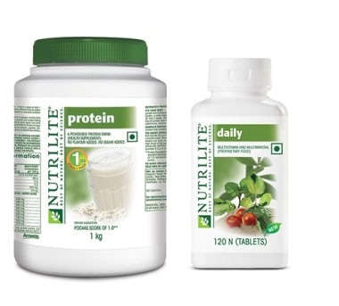 Amway Nutrilite Daily Multivitamin 120 Tablet with Protein Powder 1kg