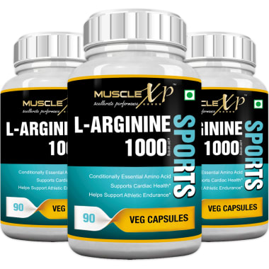 MuscleXP L-Arginine 1000mg Capsule Pack of 3