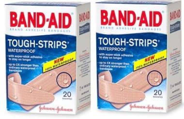 Band-Aid Waterproof Strip Pack of 2
