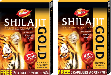 Dabur Shilajit Gold Capsule Pack of 2