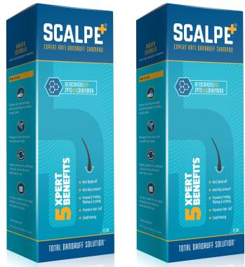 Scalpe Plus Anti-Dandruff Shampoo Pack of 2