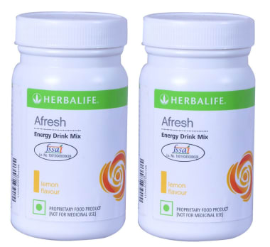 Herbalife Afresh Energy Drink Mix Lemon Pack of 2