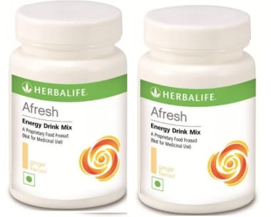 Herbalife Afresh Energy Drink Mix Ginger Pack of 2