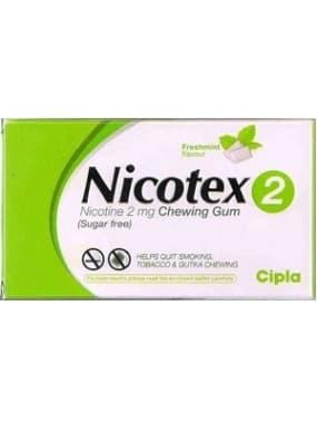 Nicotex Sugar Free 2mg Chewing Gums Fresh Mint