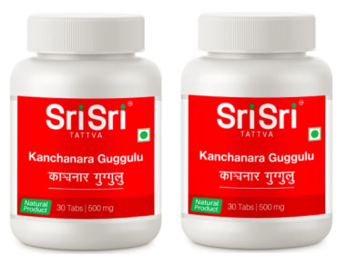 Sri Sri Tattva Kanchanara Guggulu Tablet (Pack OF 2)