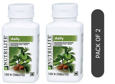 Amway Nutrilite Daily Multivitamin and Multimineral Tablet Pack of 2