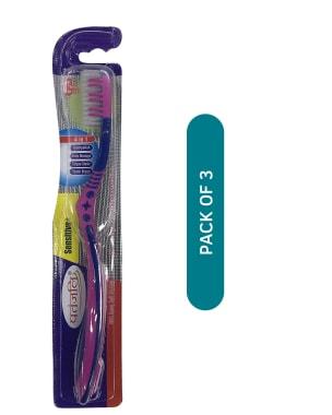 Patanjali Ayurveda Sensitive Plus 4 in 1 Toothbrush Pack of 3