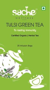 Sache Wellness Organic Tulsi Green Tea Bag