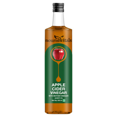 NourishVitals Apple Cider Vinegar with Mother Vinegar Acidity 5%