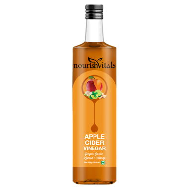 NourishVitals Apple Cider Vinegar with Ginger, Garlic, Lemon and Honey