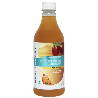 HealthKart Apple Cider Vinegar with Honey with Mother, Unfiltered, Unpasteurized