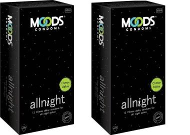 MOODS Allnight  Condom Pack of 2