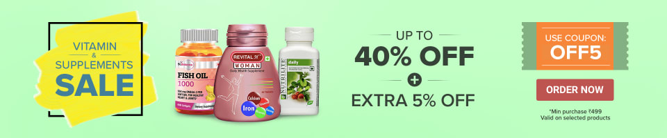 VITAMIN & SUPPLEMENTS SALE UP TO 40% OFF + EXTRA 5% OFF