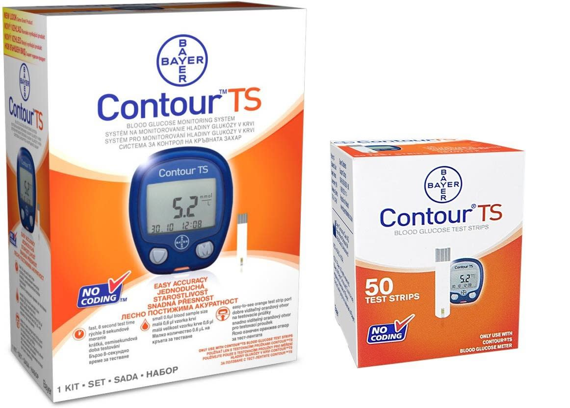 Free Blood Glucose Meter >> Bayer Contour Ts Blood Glucose Meter With Free 50 Ts Blood Glucose Test Strip