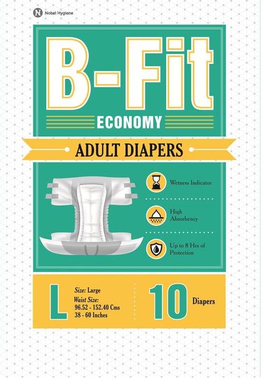 B-Fit Economy Adult Diaper L