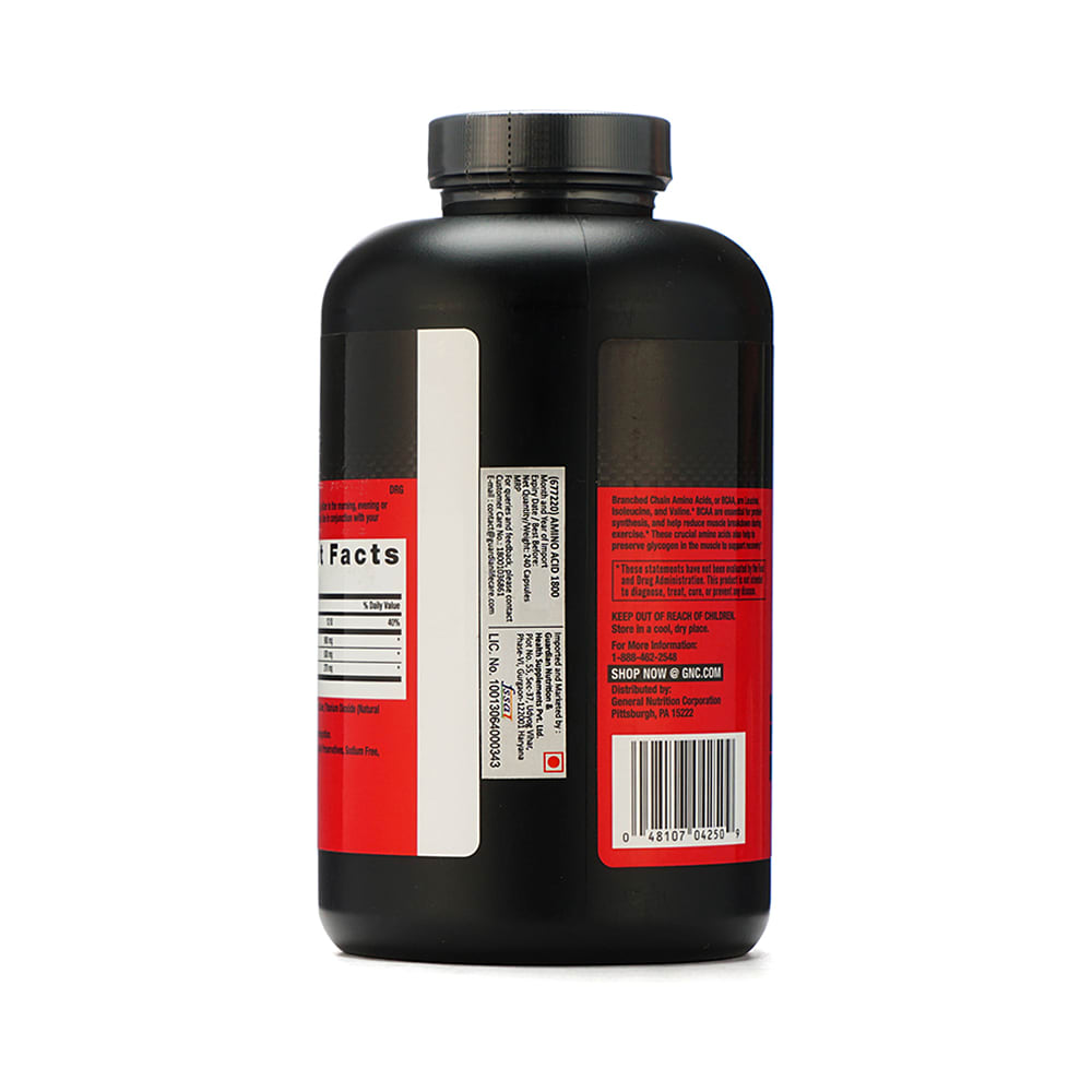 GNC Pro Performance BCAA 1800 Soft Gelatin Capsule