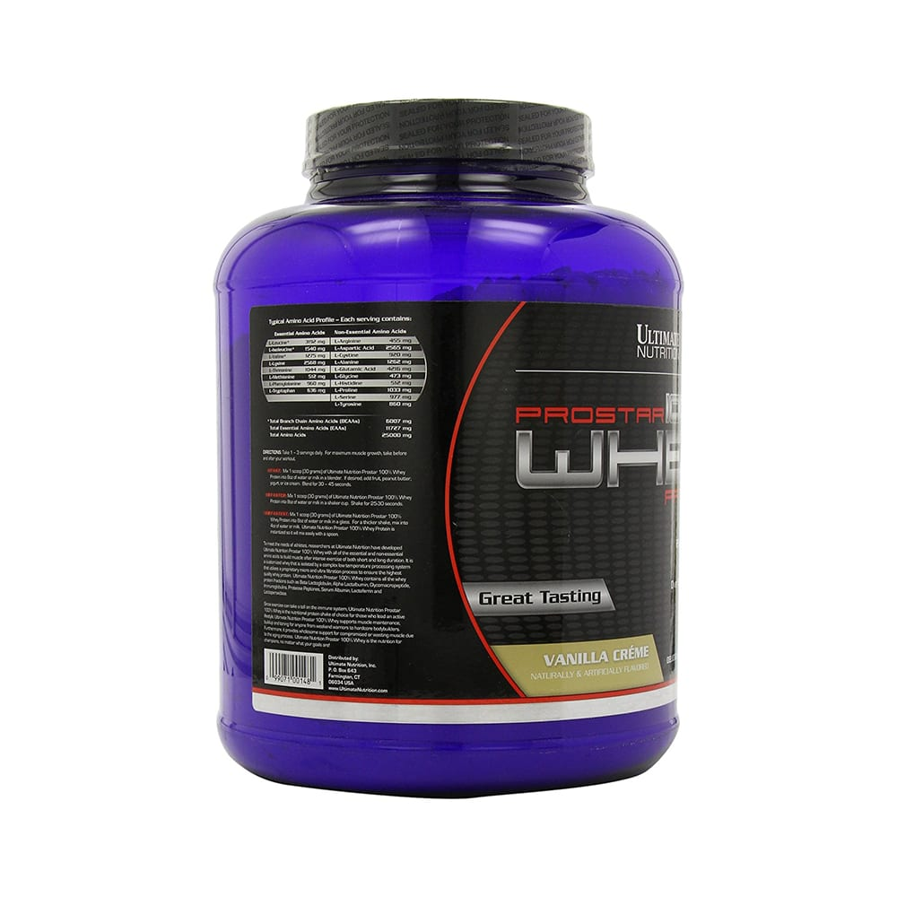 Ultimate nutrition prostar 100% whey protein powder vanilla creme: buy 5.28 lb powder at best price in india | 1mg