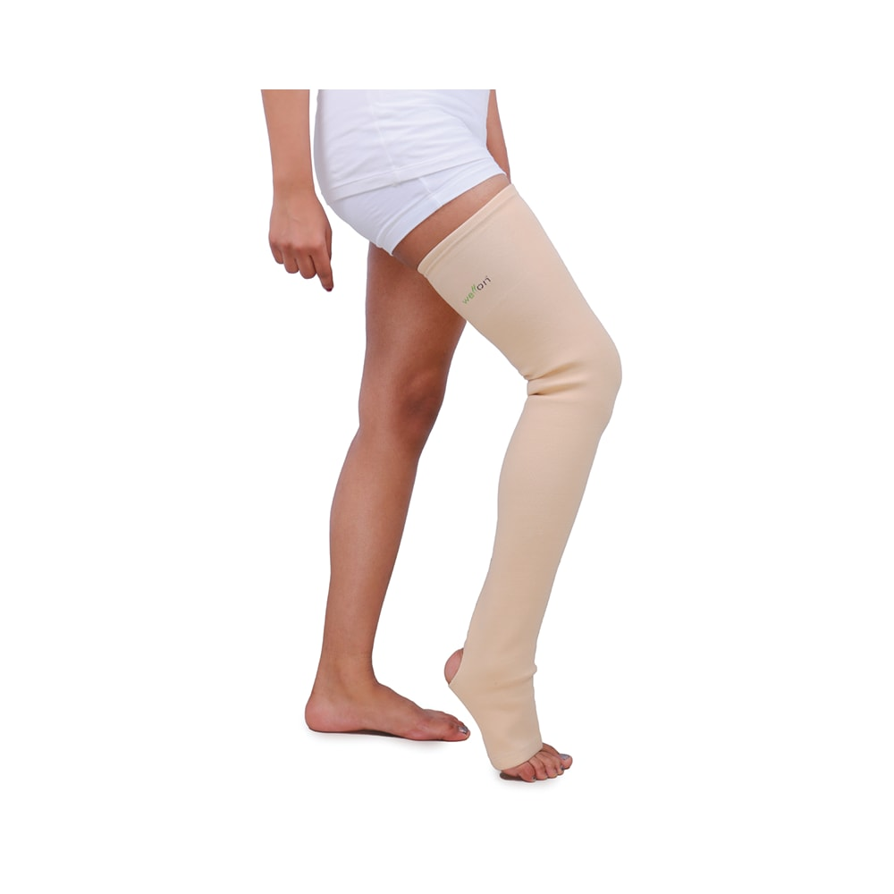 8292dc791e Wellon compression stockings (mid thigh) stk-02 xl: buy 1 device at best  price in india | 1mg