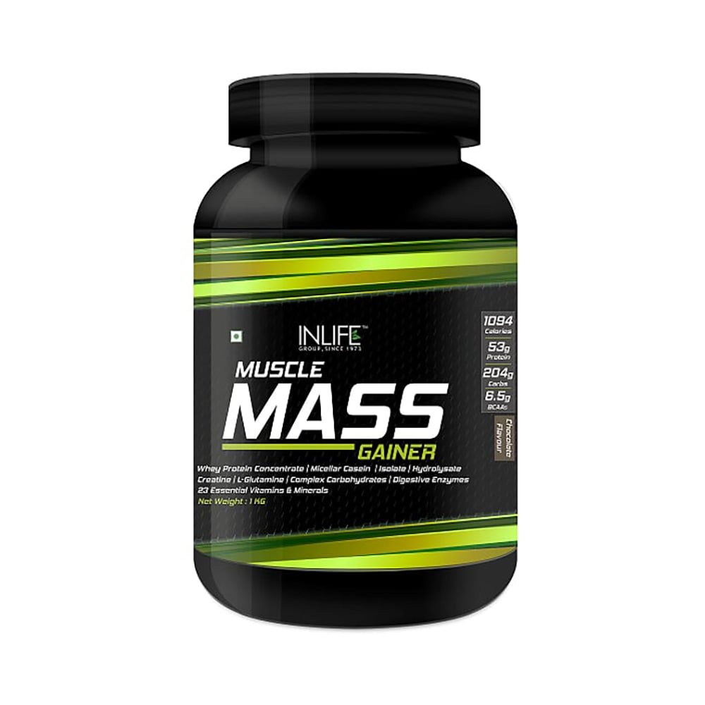 755e52ccbf8 Inlife muscle mass gainer protein powder with whey protein chocolate  buy 1  kg powder at best price in india