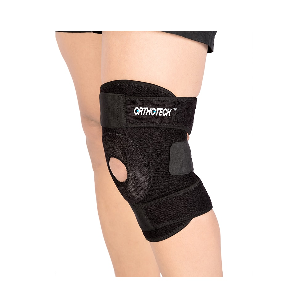 286bedf4a8 Orthotech or-2113 open patella knee support black: buy 1 device at best  price in india   1mg